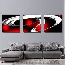 Картина HD Abstract red 3PC